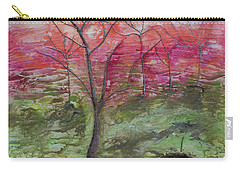 Sunset From The Mountain Top Carry-all Pouch by John Stuart Webbstock
