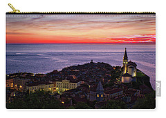 Carry-all Pouch featuring the photograph Sunset From The Walls #3 - Piran Slovenia by Stuart Litoff