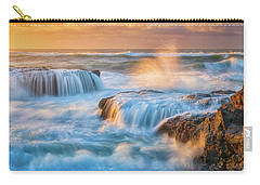Carry-all Pouch featuring the photograph Sunset Fury by Darren White