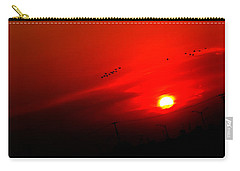 Sunset Geese Leaving Disappearing City - 0814  Carry-all Pouch