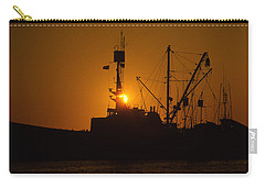 Carry-all Pouch featuring the photograph Sunset Harbor by Marie Leslie