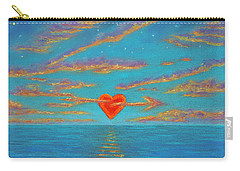 Sunset Heart 01 Carry-all Pouch