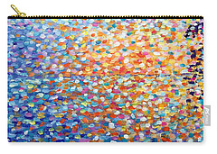 Carry-all Pouch featuring the painting Sunset - Impressionist Painting by Cristina Stefan