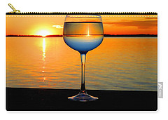 Sunset In A Glass Carry-all Pouch