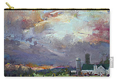 Sunset In A Troubled Weather Carry-all Pouch by Ylli Haruni
