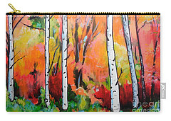 Sunset In An Aspen Grove Carry-all Pouch