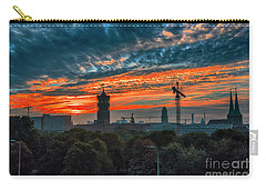 Carry-all Pouch featuring the photograph Sunset In Berlin by Pravine Chester