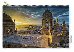 Carry-all Pouch featuring the photograph Sunset In Cadiz Cathedral View From Levante Tower Cadiz Spain by Pablo Avanzini