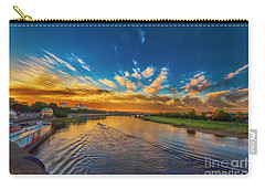 Sunset In Dresden Carry-all Pouch by Pravine Chester