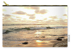 Sunset In Golden Tones Torrey Pines Natural Preserves #2 Carry-all Pouch