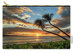 Carry-all Pouch featuring the photograph Sunset In Kaanapali by James Eddy