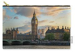 Sunset In London Westminster Carry-all Pouch by James Udall
