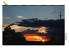 Carry-all Pouch featuring the photograph Sunset In Oil Santa Fe New Mexico by Diana Mary Sharpton