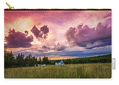 Sunset In Rear Intervale Carry-all Pouch by Ken Morris