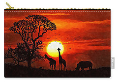 Sunset In Savannah Carry-all Pouch