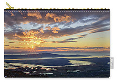 Carry-all Pouch featuring the photograph Sunset In The Desert by Bryan Carter