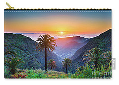 Sunset In The Canary Islands Carry-all Pouch by JR Photography