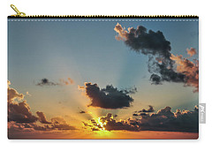 Sunset In The Caribbean Sea Carry-all Pouch