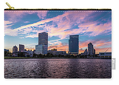 Carry-all Pouch featuring the photograph Sunset In The City by Randy Scherkenbach