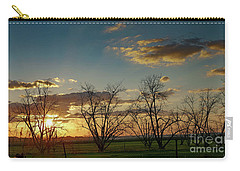 Sunset In The Fields Of Binyamina Carry-all Pouch by Arik Baltinester