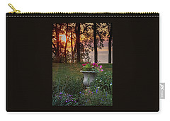 Sunset In The Flowers Carry-all Pouch