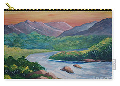 Sunset In The River Carry-all Pouch