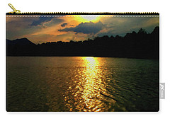 Carry-all Pouch featuring the digital art Sunset In The Smoky Mountains 1 by Chris Flees