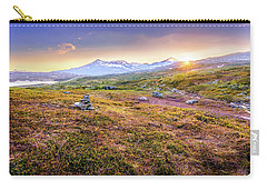 Carry-all Pouch featuring the photograph Sunset In Tundra by Dmytro Korol