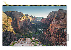 Sunset In Zion National Park Carry-all Pouch by JR Photography