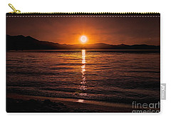 Sunset Lake 810pm Textured Carry-all Pouch