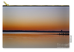 Carry-all Pouch featuring the photograph Sunset Lake Texhoma by Diana Mary Sharpton
