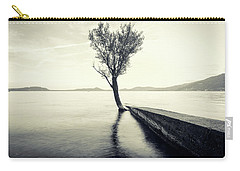 Sunset Landscape With A Tree In The Background Immersed In The L Carry-all Pouch