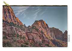 Sunset Lighting At Zion Carry-all Pouch