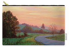Sunset Meditation- In The Blue Ridge Mountains Carry-all Pouch