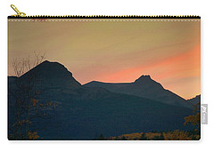 Sunset Mountain Silhouette Carry-all Pouch
