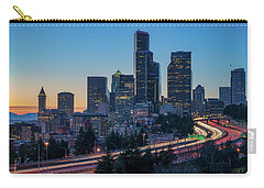 Sunset Night-freeway Lights Carry-all Pouch