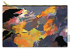 Carry-all Pouch featuring the mixed media Sunset Of The Gods 4 by Lynda Lehmann