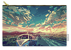 Sunset Oh The Road Carry-all Pouch