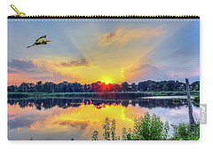 Sunset On A Chesapeake Bay Pond Carry-all Pouch