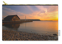 Sunset On Anderson's Dock - Door County Carry-all Pouch