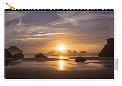 Sunset On Bandon Beach Carry-all Pouch