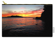 Sunset On Clayton Beach Carry-all Pouch