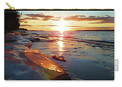 Sunset On Ice Carry-all Pouch
