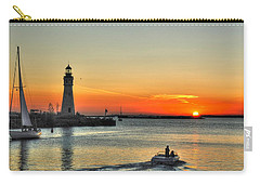 Sunset On Lake Erie Carry-all Pouch by Michael Frank Jr