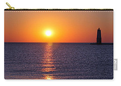 Sunset On Lake Michigan Carry-all Pouch by Bruce Patrick Smith