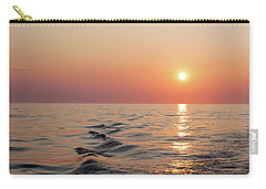 Sunset On Lake Michigan Carry-all Pouch by Melanie Alexandra Price