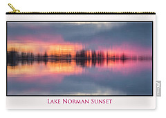 Carry-all Pouch featuring the photograph Sunset On Lake Norman by Ronald Santini