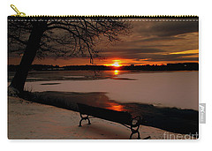 Sunset On Lake Quanapowitt Carry-all Pouch