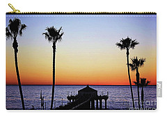 Sunset On Manhattan Beach Pier Carry-all Pouch