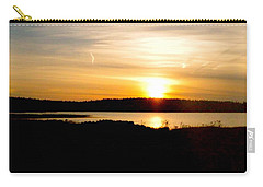 Carry-all Pouch featuring the photograph Sunset On Morrison Beach by Jason Lees